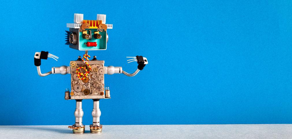 Robot beckoning